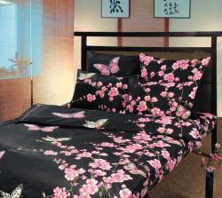 Постельное белье из бязи «Сакура 1» (1.5 спальное)  ТМ ТексДизайн