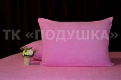 Купить розовые махровые наволочки на молнии в Москве